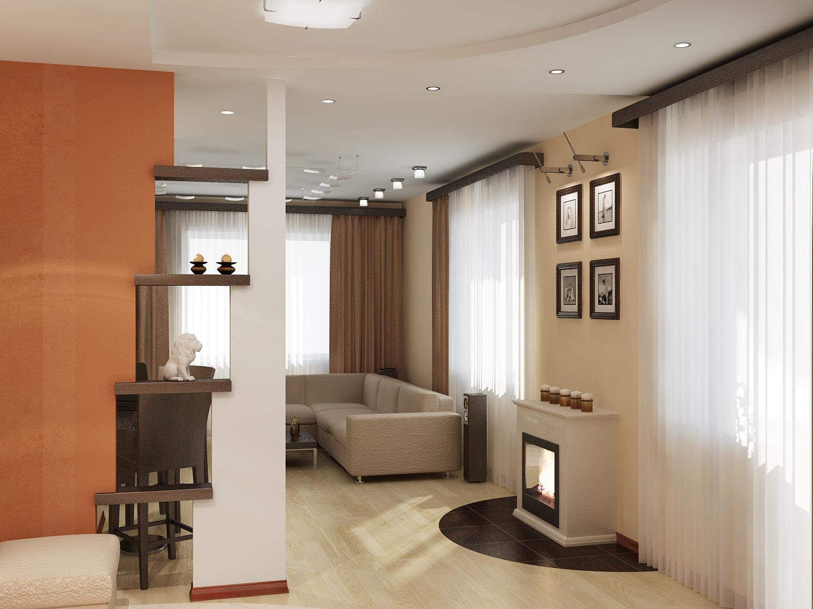 Комната с двумя окнами в хрущевке дизайн